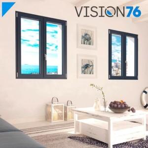 Linea VISION 76 - Finestre in PVC