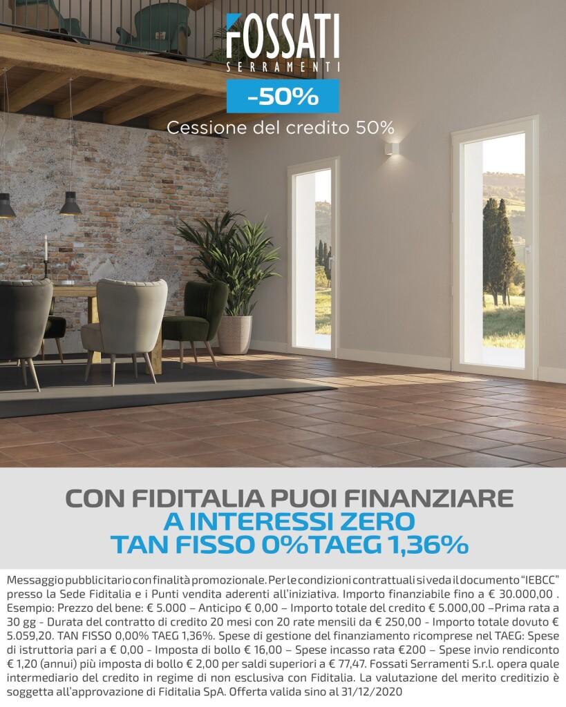 FOSSATI_Cessione del Credito 50% + Promo TassoZERO